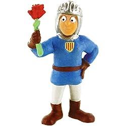 Comansi Y97307. Figura Disney Pvc. Sant Jordi con Rosa. 8 cm altura