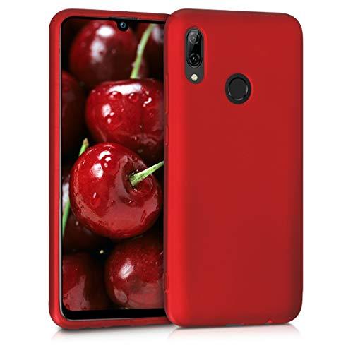 kwmobile Capa para Huawei P Smart (2019) - Case para Huawei P Smart (2019) em TPU Silicone - Capa de Proteção Vermelho Escuro Metálico