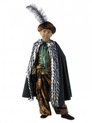 Mascarada MI732 Gr.6 - König Baltasar Kostüm, Größe 6, braun/gold-/grüntöne (Krippenspiel König Kostüm)