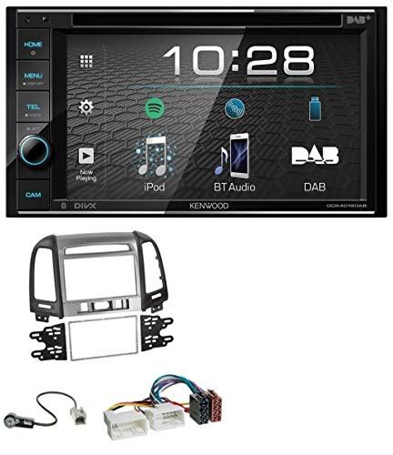 caraudio24 Kenwood DDX4019DAB USB DVD DAB MP3 Bluetooth 2DIN Autoradio für Hyundai Santa Fe 3 Schalter ab 11