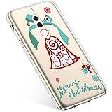 Uposao Handyhülle Huawei Mate 10 Pro Hülle Transparent Silikon Ultra Dünn Schutzhülle Durchsichtig Handyhülle Kristall Weiche Silikon TPU Handytasche Rückschale,Weihnachten Jingle Bell