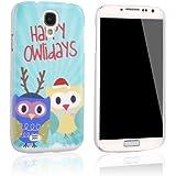 tinxi® ABS-Kunststoff Schutzhülle für Samsung Galaxy S4 i9500 hard case harte cover Rückschale Etui Tasche Skin mit zwei lieblichen Eulen Owls