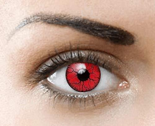 aa91a5bf7e234 PHANTASY Eyes® Lentes de contacto de color - Halloween Crazy lens (RED  DEMON) Rojo