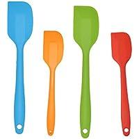 HornTide 4 pezzi in silicone Spatola Set 2x Grande Spatola 2x piccola spatola termoresistente Resistere 230 ° C 446 ° F Multicolor Spatole