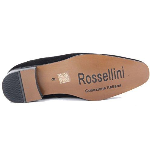 Rossellini , Mocassins pour homme Daim noir