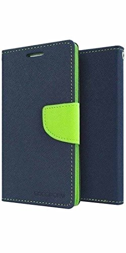 Micromax Canvas 4 A210 Mercury Flip Wallet Diary Card Case Cover (Blue/Green) By Mobile Life  available at amazon for Rs.179