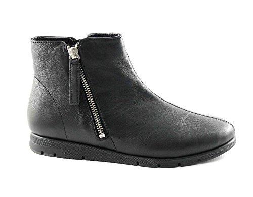 FRAU FX 53M2 schwarze Schuhe Frau Ankle Boots Leder Komfort Reißverschluss Nero