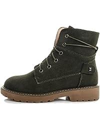 Martin Boots Botines Botas Zapatos MD100809 Botas de Tacón Grueso Antideslizante Impermeable Moda Mujer,GJDE