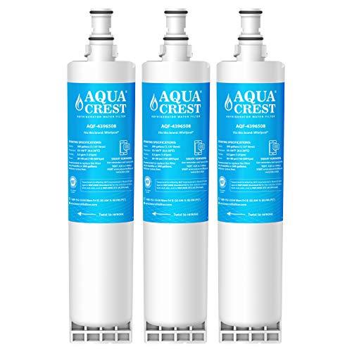 AQUACREST 4396508 Kühschrank Wasserfilter, kompatibel mit Whirlpool SBS002, S20BRS, 4396508, 481281729632, 461950271171, EDR5RXD1, Filter 5 (3) - Kenmore Side-by-side Kühlschränke