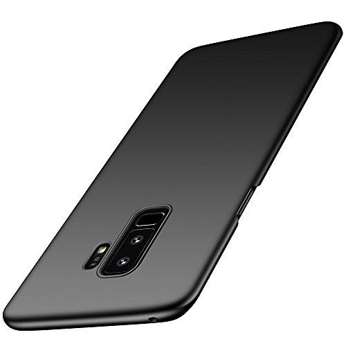 Arkour Galaxy S9 Plus Hülle, Minimalistisch Ultradünne Leichte Slim Fit Handyhülle mit Glattes Matte Oberfläche Hard Case für Samsung Galaxy S9+ (Glattes Schwarz) Slim Fit Hard Case