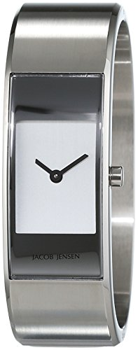 Jacob Jensen Womens Analogue Quartz Watch with Stainless Steel Strap Eclipse Item NO. 440