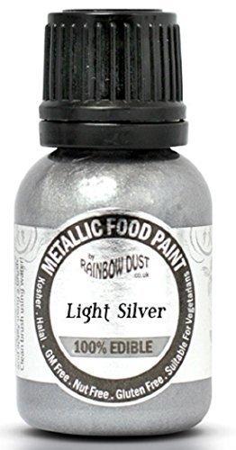 Rainbow Dust - Colorant Alimentaire Comestible Argent Clair Métallique