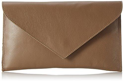 Bags4Less Damen Venedig Clutch, Braun (Taupe), 2x18x28 cm