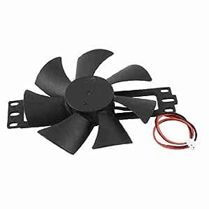 DV 18V Ventilateur Noir Lame en plastique pour Cuisinière à induction