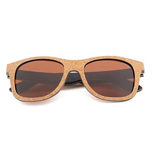 PZXY Holz Sonnenbrillen Kork Persönlichkeit Outdoor Polarized UV-Schutzbrillen für Männer und Fraue