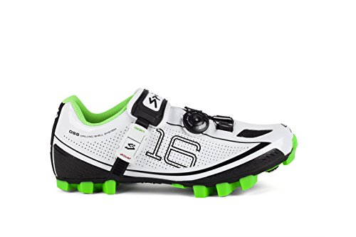 Spiuk 16 MTB - Chaussures unisexes, couleur blanc, taille 45