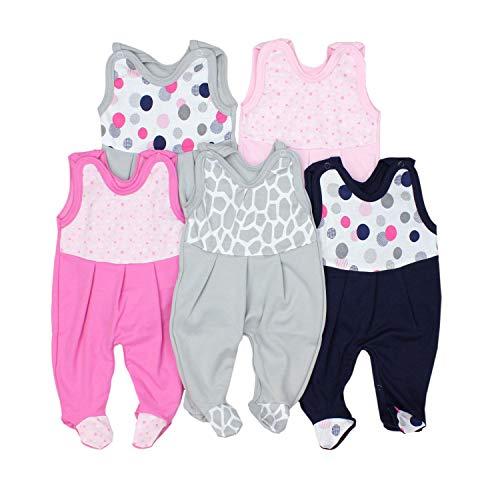 TupTam Baby Unisex Strampler mit Aufdruck Spruch 5er Pack, Farbe: Mädchen 2, Größe: 56