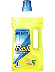 Flash Universal Crisp Lemons Multi-Surface Cleaning Liquid Removes Up to 100 Percent of Dirt, Grease and Grime, 1 Litre