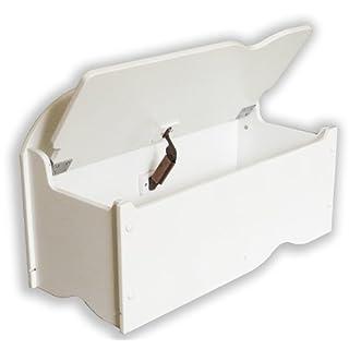 Room Studio 530002 Coffre de Rangement pour Enfant en bois Blanc 70 x 36,5 x 45 cm
