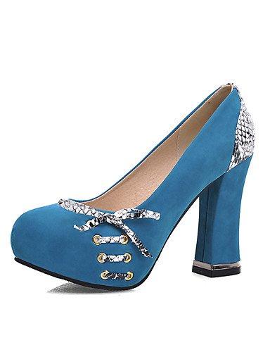 WSS 2016 Chaussures Femme-Bureau & Travail / Décontracté-Noir / Bleu / Rouge-Gros Talon-Talons / Bout Arrondi-Chaussures à Talons-Laine synthétique black-us9 / eu40 / uk7 / cn41