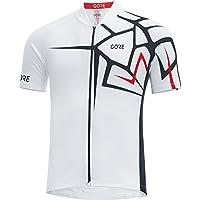 GORE WEAR Homme Maillot de Cyclisme à Manches Courtes Respirant, Gore C3 Adrenaline Jersey, Taille: L, Couleur: Weiß, 100266