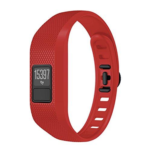 SUPORE Garmin Vivofit 3 Correa, Bandas de Fitness con Cierre de Reloj Seguro, Bandas de Repuesto de Silicona Suave para Garmin Vivofit 3 / Garmin Vivofit JR Smart Watch