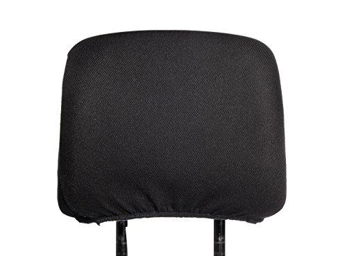 Kopfstützen Bezug Universal Kopfstützenbezug Farbe schwarz