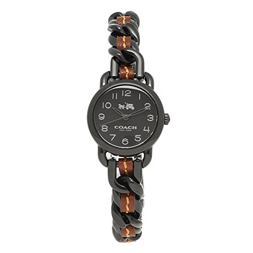 Black Dial Women's Analog Casual Quartz Coach Watch Delancey 14502724