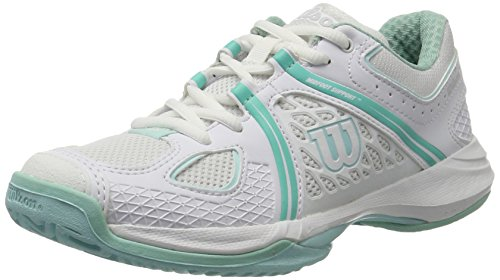 WILSON NVISION W WH/Ablue/MINT ICE W 6, Tennisschuhe, Blau (MINT ICE Wil), 39 2/3 EU (6 UK)