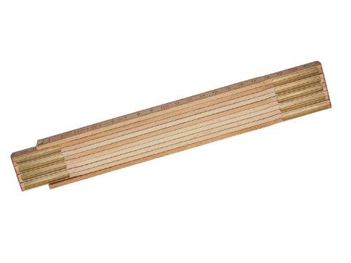 Stanley Gliedermassstab Holz Natur, Oberfläche witterungsbeständig und foliert, Messinggelenke, 0-35-455