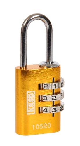 Kasp K10520YELD - Candado de combinación, aluminio, 20 mm, amarillo