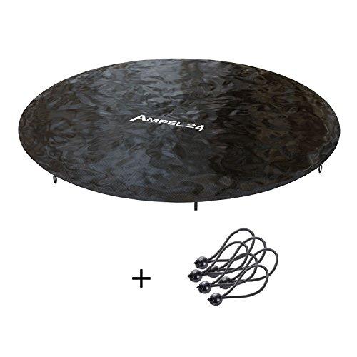 Ampel 24 Funda impermeable   Cobertura de lluvia para cama elástica con diámetro de 244 cm   protección con bajante de agua   resistente a los UV   color negro   de PVC