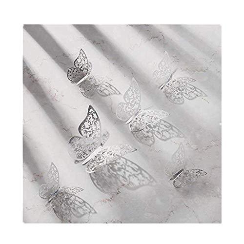 Dasongff 12 Stück Schmetterling Wandaufkleber, 3D Schmetterling Wand Aufkleber Wandtattoo Fliegen Dekor für Zimmer Haus Kindergarten Klassenzimmer Büros Dekor