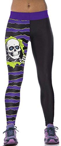 Belsen Damen Leggings mehrfarbig kürbis M Skull ghost