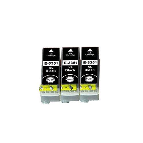 3pk Tintenpatrone Schwarz (LCL 33XL T3351(3-Stück Schwarz) Tintenpatrone Kompatibel für Expression Premium XP-530/630/635/830 XP-540/XP-640/XP-645)