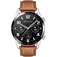 HUAWEI Watch GT 2 (46 mm) Smart Watch, 1.39 Inch AMOLED Display with 3D Glass Screen, 2 Weeks Battery Life, GPS, 15 Sport Modes, 3D Glass Screen, Bluetooth Calling Smartwatch, Pebble Brown