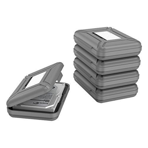 """ORICO Festplattentasche Schutztasche Schutzbox (3.5\"""", Grau, 5 Stück) - Aufbewahrungstasche für 3,5 Zoll Festplatten Western Digital WD Seagate Toshiba Samsung Intenso"""