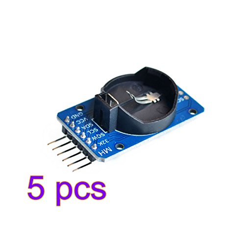 Vi.yo DS3231 AT24C32 IIC RTC Echtzeituhr Speichermodul mit Akku für Arduino Himbeer Pi und Mikrocontroller 5 Stücke