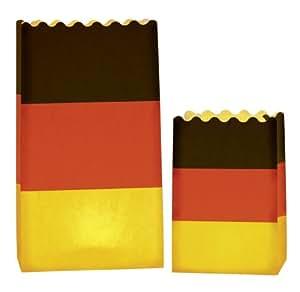 LUMINARIA 8563100 Lichtertüte Luminaria Deutschland Flagge - 8er Set, Deko Papierhüllen für Teelichte, Zellstoff, Mehrfarbig