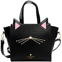 Rawdah Bolso de gran capacidad de mujeres encantadoras del oído del gato bolsa de hombro bolso