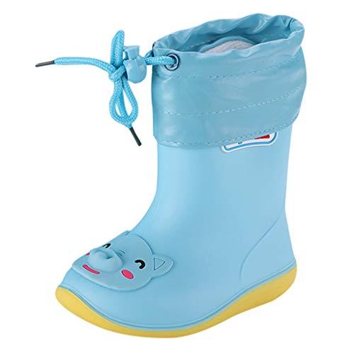 Kids Toddler Wellies Wellington with Drawstring Soft PVC Rubber Sole Rain Boots 3D Cartoon Animals Waterproof Non-Slip Rain Boots Summer for Baby Girls Boys