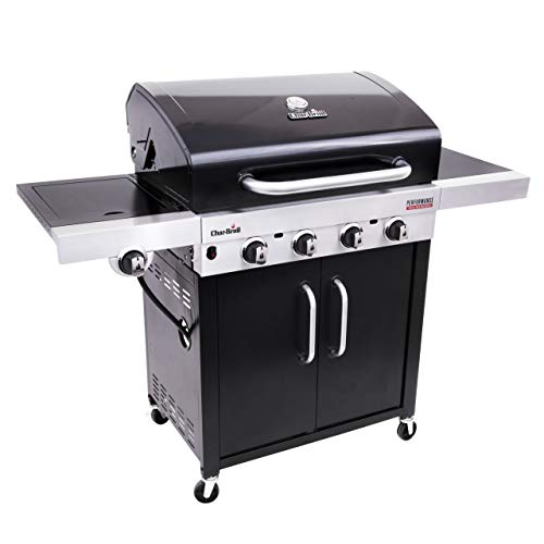 Char-Broil New Performance Series 440B - Griglia Barbecue a Gas con 4 Fuochi con Tecnologia TRU-Infrared, Nero