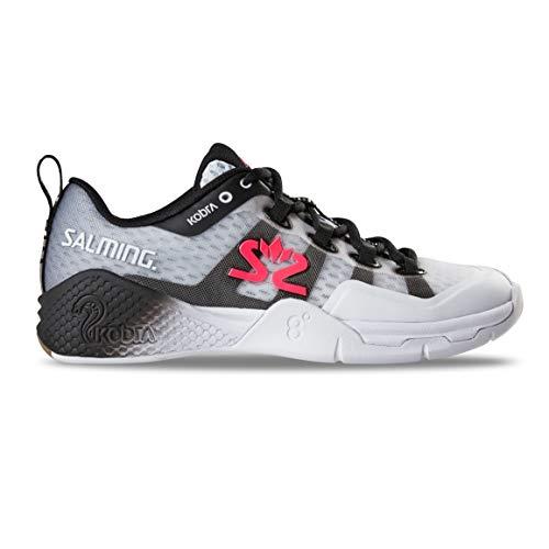 Salming Kobra 2 Indoor Handballschuhe Hallenschuhe weiß/schwarz 1239081-0701 Aktuelle Kollektion 2019, Schuhgröße:42 2/3 EU