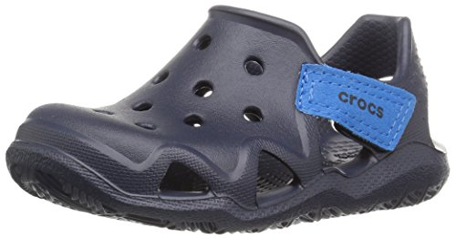 Crocs Kinder Unisex 204021 Mokassins Oxford, Blau (Navy), 29/30 EU
