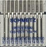 Sortiment 10 Schmetz Nadeln Universal Stärke 70-100