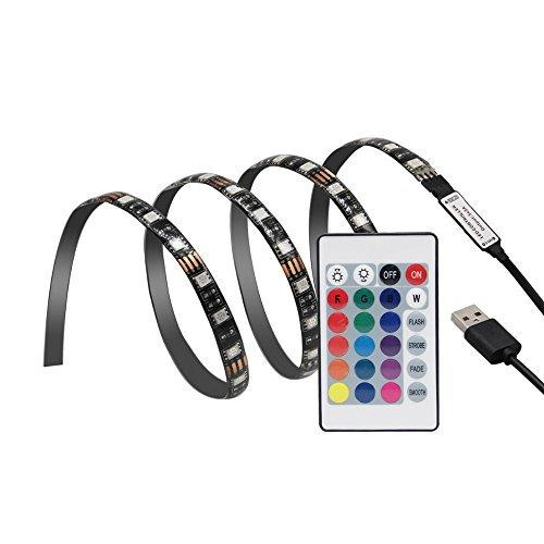 Gontic LED TV Backlight Strip Light 3.28ft RGB 5V USB HDTV Background Bias Lighting Kit for TV/Computer/Laptop/Desktop PC Backlight