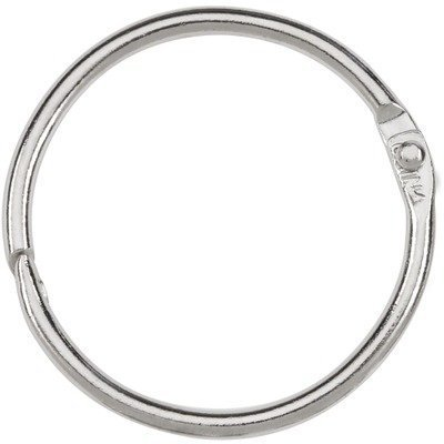 Acco Loose-leaf Binding Rings - 1.50quot; Diameter - Stainless Steel - 100 / Box - Silver by ACCO Brands