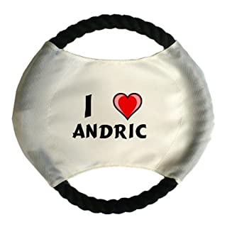 Personalised dog frisbee with name: Andric (first name/surname/nickname)