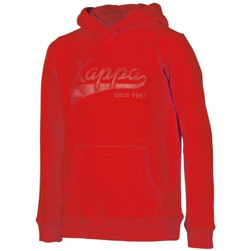 Kappa, Felpa unisex con cappuccio, Rosso (Racing Red), M