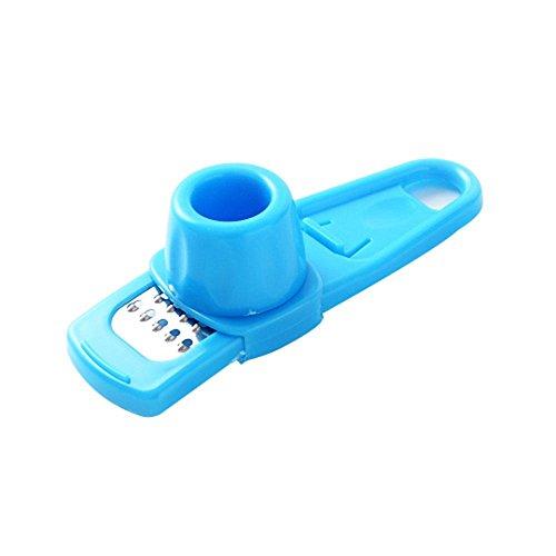 pawaca ein Mehrzweck-Microplaner und Reibe für Ingwer oder Knoblauch blau (Blau-raspel)